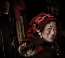 Tibetan woman by clalepa