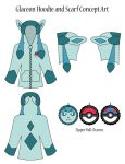 Glaceon Hoodie Concept Art by Monostache