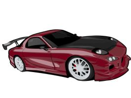 rx7 red by shinoahdeath
