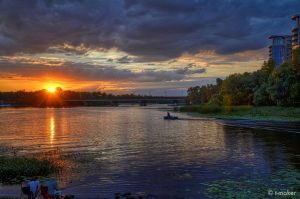 River at Sunset by t-maker