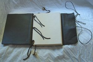 Leather book - view 2 by bleaknimue