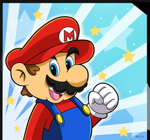 Super Mario by Domestic-hedgehog