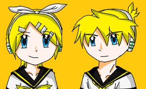 Rin and Len - colored by mimidan
