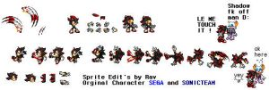 A little sprite of shadow by RavTheHedgehog