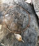 Copper Wire and Crystal Pendant Necklace by cclark12