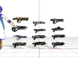 Mass effect 3 shotguns + DL by sky-commander