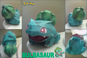 Bulbasaur Papercraft Finished by rubenimus21