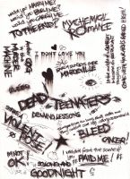 My Chemical Romance Scribbles by Loftio