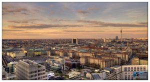 Berlin in evening sun by Haufschild