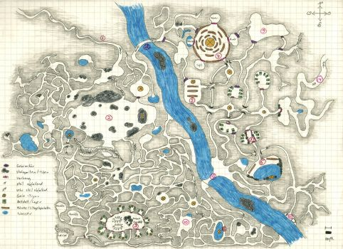 The Sub-Glacial Temple RPG Map by Siobhan68