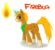 An OC pony - Firebug by bingodingo