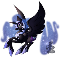 Nightmare moon by Japandragon