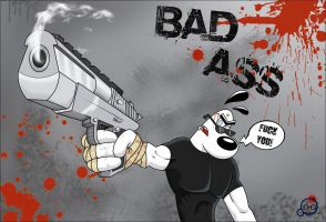 BAD ASS FULL COLOR by DaveToons