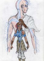 Aang and Korra by theaven