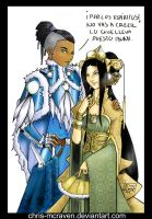 Toph y Sokka by Chris-McRaven