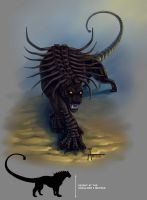 Black manticore by Anisis