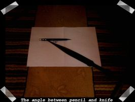 Angle Between Pencil and Knife by junkcan