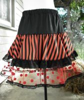 Skirt stripes spots tulle lace by SewObession