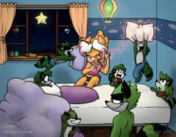 Pillow Fight with Raccoons by Frankyding90