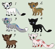 Chibi Feline Adopts~ MOVED by SapphireSquire