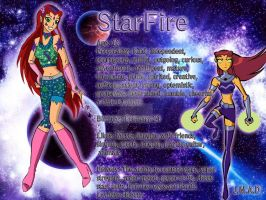 StarFire. The Mystical Squad character. by MaggiesHeartLove