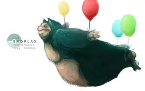 Snorlax by MrRedButcher