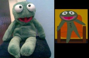 Clyde-Frog Plush by Eric--Cartman