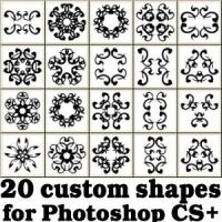 Tribal Custom Photoshop Shapes Set by Brushportal