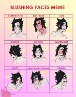PD - Blushing Faces Meme by JigokuHana
