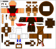 Jack Sparrow paper toy template by Ditch-scrawls