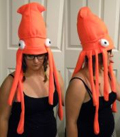 Squid Fleece Hat by Negai-Boshi