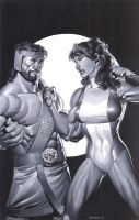 Hercules and She Hulk by ChristopherStevens