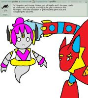 Volcanion and Hoopa's Response 4 by YingYangHeart
