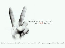 Say NO to War Wallpaper by cyrusmuller