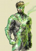 GREEN LANTERN MOBILESKETCH by leonardovincent