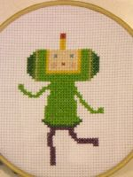 Katamari X Stitch by geek-stitch