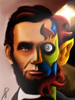 The Other Side of abraham lincoln by basem55511