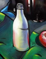 Painting of a White Bottle by J-Works