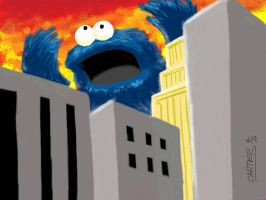Cookie Monster Attack by VectorAttila