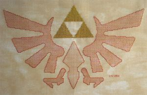 +BLACKWORK+ Winged Triforce by gatchacaz