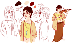 Gypsy Lady Person Character thing by batcii