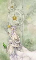 Three of Pentacles by puimun
