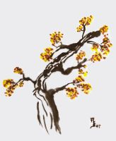 Sumi Tree by zandere123