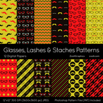 Glasses, Lashes And Staches Patterns by MysticEmma