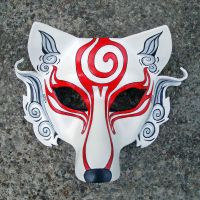 Shiranui...Japanese Wolf Mask by merimask