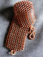 Dragonscale (bracelet)(Copper/brown/blue) by Narrina