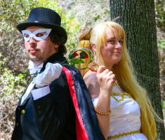 Tuxedo Mask and Serenity closeup by Mikey186