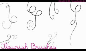 .17 - flourish brushes by domino-88