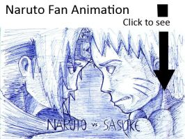 Naruto vs sasuke fan animation by foice