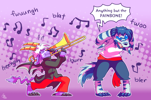 Commission - Anything But the PAINBONE by raizy